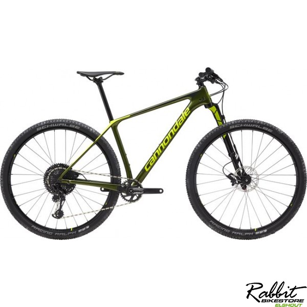 Cannondale F-si Carbon 3 Medium, Groen/fluorgeel