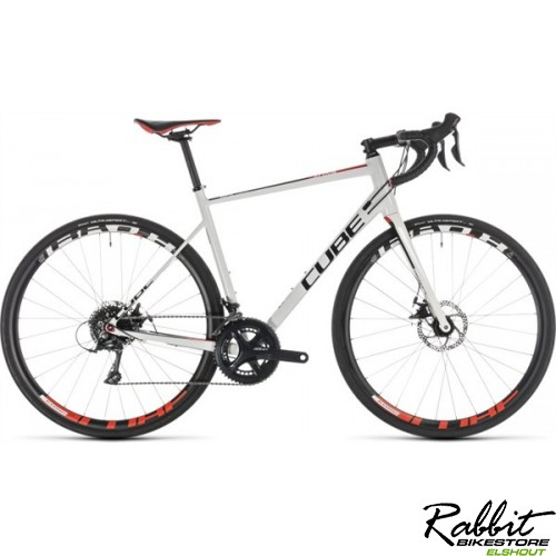 Cube ATTAIN PRO DISC WHITE/RED 2019 58cm, white/red