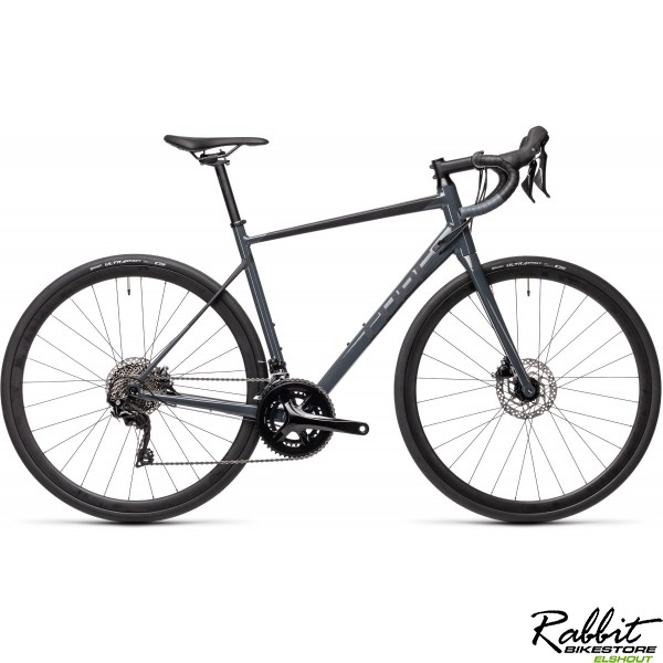 Cube ATTAIN SL GREY/BLACK 2021 58CM, Grey/black