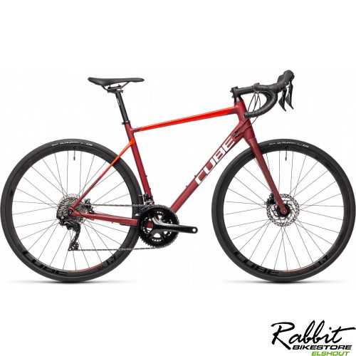 CUBE ATTAIN SL RED/RED 2021 56CM, Red/red