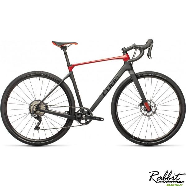 CUBE NUROAD C:62 PRO CARBON/RED 2021 53CM, Carbon/red