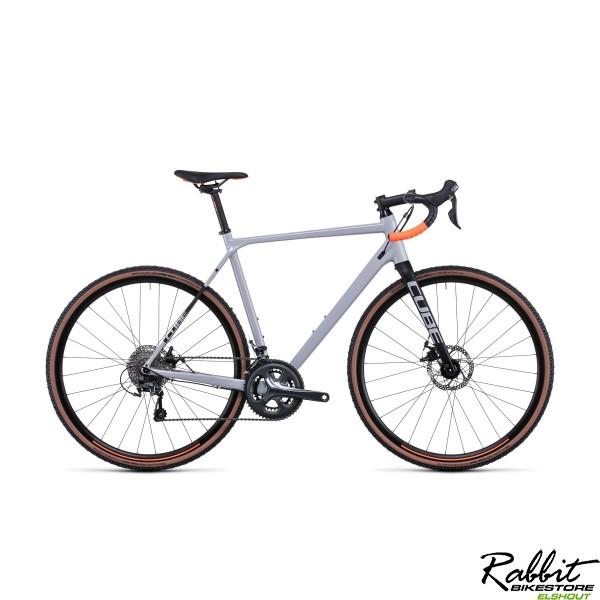 CUBE CROSS RACE GREY/ORANGE 2022 58cm L , Grey/orange