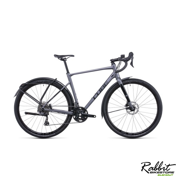 CUBE NUROAD RACE FE GREY/BLACK 2022 53cm S, Grey/black