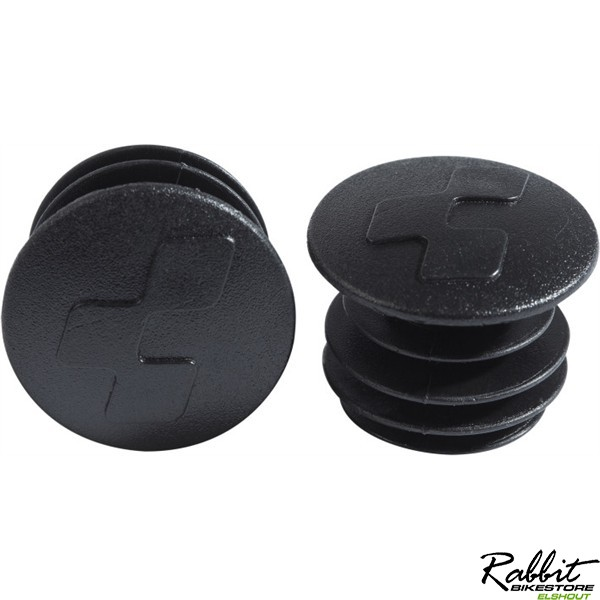CUBE HANDLEBAR END PLUGS BLACK