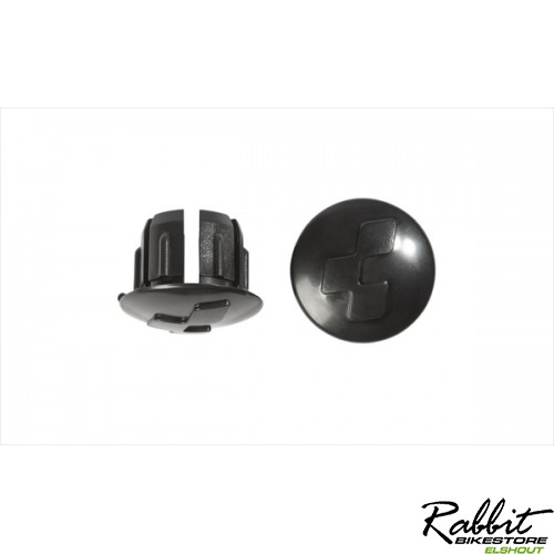 CUBE ROADRACE HANDLEBAR END PLUGS BLACK