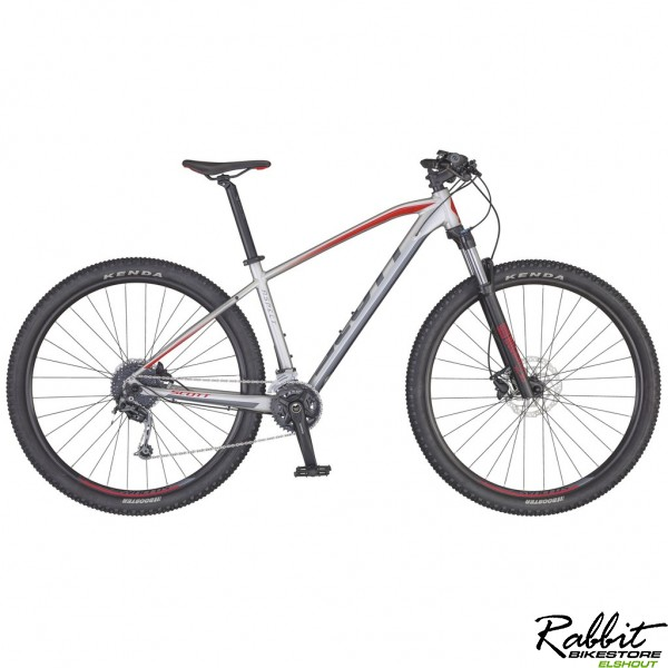 Scott  Aspect 930 silver/red 2020 L, Zilver/Rood