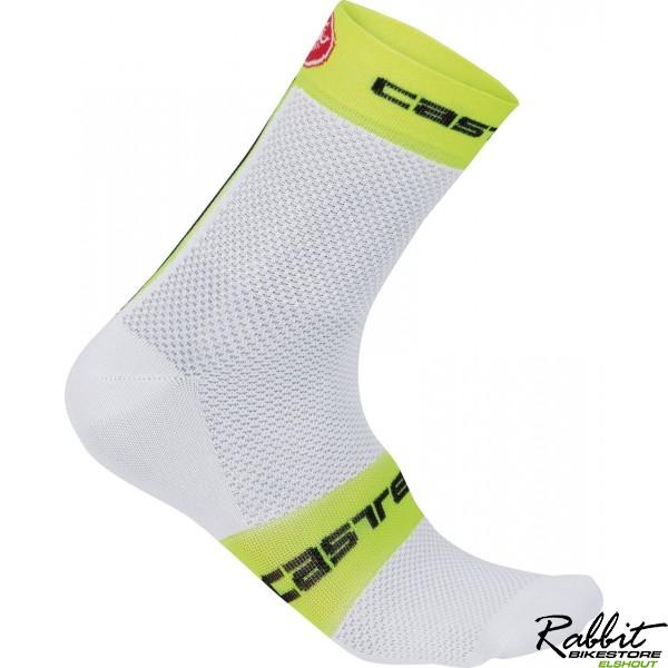 Castelli Ca Free 9 Sock-white/yellow Fluo-xxl